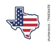 texas map. texas icon. texas... | Shutterstock .eps vector #796836658