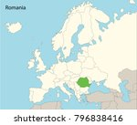 europe map  romania | Shutterstock .eps vector #796838416