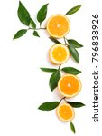 slices of orange fruits and... | Shutterstock . vector #796838926