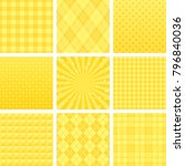 set of yellow patterns.  | Shutterstock .eps vector #796840036
