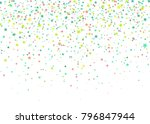 colorful confetti of stars... | Shutterstock .eps vector #796847944