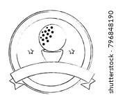 golf ball emblem elegant | Shutterstock .eps vector #796848190