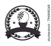 golf ball emblem elegant | Shutterstock .eps vector #796848268