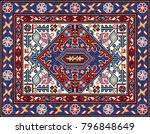 colorful mosaic oriental rug... | Shutterstock .eps vector #796848649
