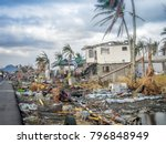 natural disaster damage | Shutterstock . vector #796848949