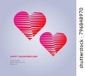 design template   heart for... | Shutterstock .eps vector #796848970