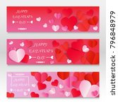set of valentines day sale... | Shutterstock .eps vector #796848979