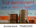 coin on the finance background | Shutterstock . vector #796852390