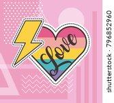 cute patches love heart... | Shutterstock .eps vector #796852960