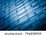 office building window close up  | Shutterstock . vector #796858909