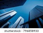 modern office building on a... | Shutterstock . vector #796858933