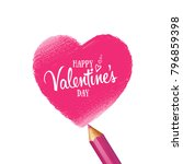 greeting card happy valentine's ... | Shutterstock .eps vector #796859398
