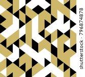 seamless triangle memphis...   Shutterstock .eps vector #796874878