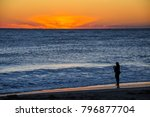 Sunrise On A Florida Beach Wit...