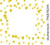 heart border for valentines day ... | Shutterstock .eps vector #796878244
