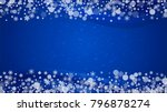 christmas snowflakes on blue... | Shutterstock .eps vector #796878274