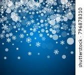 winter border with white... | Shutterstock .eps vector #796878310