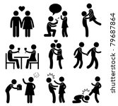 lover couple love proposal... | Shutterstock .eps vector #79687864