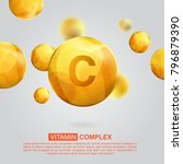 vitamin c gold icon. retinol... | Shutterstock .eps vector #796879390