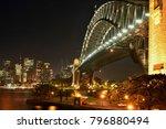 harbour bridge and skyline at... | Shutterstock . vector #796880494