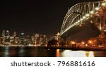 harbour bridge and skyline at...   Shutterstock . vector #796881616