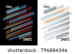 t shirt design sports training... | Shutterstock .eps vector #796884346