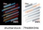 t shirt design sports training... | Shutterstock .eps vector #796884346