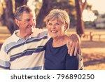 portrait of american senior... | Shutterstock . vector #796890250