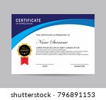 modern certificate vector | Shutterstock .eps vector #796891153