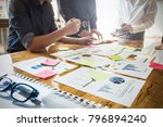 close up business woman and... | Shutterstock . vector #796894240