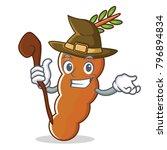witch tamarind mascot cartoon... | Shutterstock .eps vector #796894834