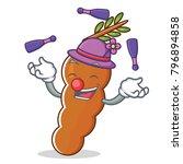 juggling tamarind mascot... | Shutterstock .eps vector #796894858
