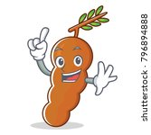 finger tamarind mascot cartoon... | Shutterstock .eps vector #796894888