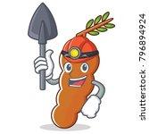 miner tamarind mascot cartoon... | Shutterstock .eps vector #796894924