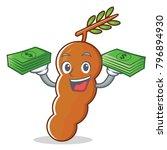 with money tamarind mascot... | Shutterstock .eps vector #796894930
