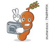 photographer tamarind mascot... | Shutterstock .eps vector #796894954