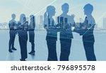 worldwide business concept.... | Shutterstock . vector #796895578