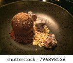 chocolate sphere  vanilla ice...   Shutterstock . vector #796898536