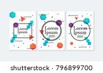 placard templates set with... | Shutterstock .eps vector #796899700
