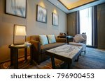 modern living room interior | Shutterstock . vector #796900453