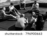 people exercising at fitness gym | Shutterstock . vector #796900663