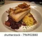 crispy pork belly  fine dining  ...   Shutterstock . vector #796902880