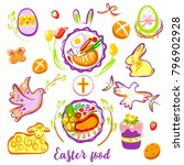 easter food design element.... | Shutterstock .eps vector #796902928