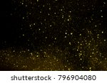 abstract gold bokeh with black... | Shutterstock . vector #796904080