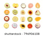collection fruit isolated on... | Shutterstock . vector #796906108