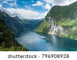 beautiful landscape in... | Shutterstock . vector #796908928