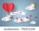 valentine's day concept.love... | Shutterstock .eps vector #796911100