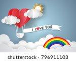 valentine's day concept. love... | Shutterstock .eps vector #796911103