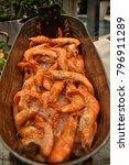 prawn  tiger prawr  seafood...   Shutterstock . vector #796911289