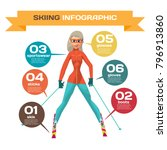 infographic with woman mountain ... | Shutterstock .eps vector #796913860